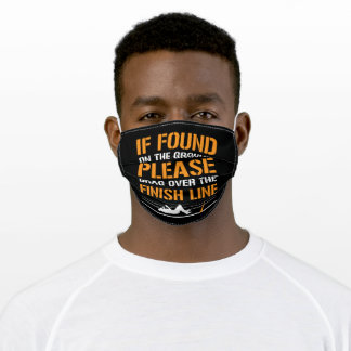 Marathon Design For Runners And Joggers Adult Cloth Face Mask
