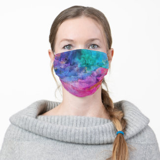 Marbled Jewel Tones Face Mask