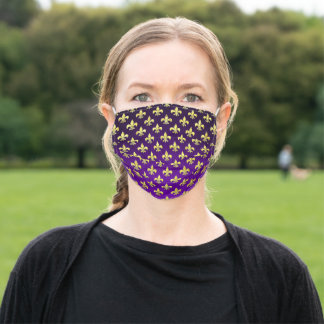 Mardi Gras Fat Tuesday Pattern Adult Cloth Face Mask
