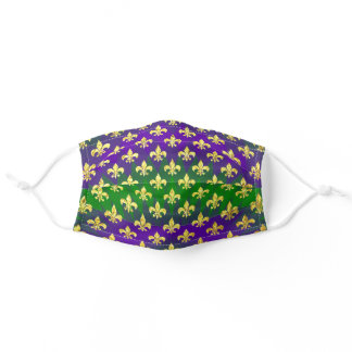 Mardi Gras Pattern Adult Cloth Face Mask