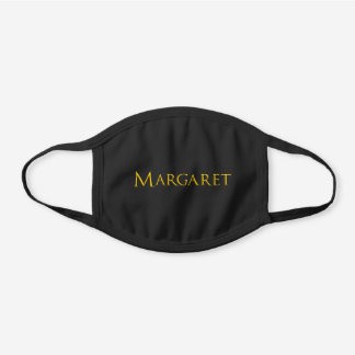 Margaret Woman's Name Black Cotton Face Mask