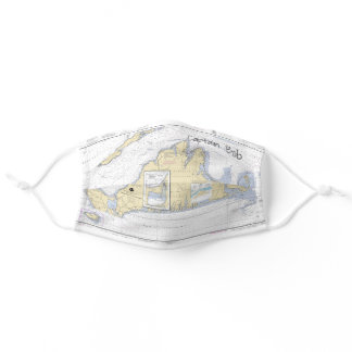 Martha's Vineyard Authentic Nautical Chart Adult Cloth Face Mask