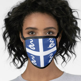 Martinican flag face mask