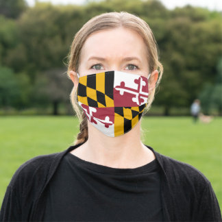 Maryland Flag & America States, USA fashion/sport Adult Cloth Face Mask