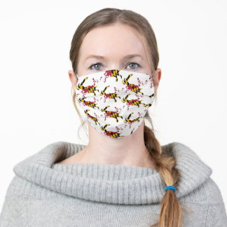 Maryland Flag Crab Pattern Adult Cloth Face Mask