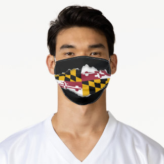 Maryland Flag | Faux Torn Out Look Adult Cloth Adult Cloth Face Mask