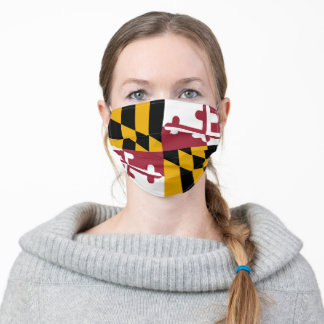 Maryland Flag USA State Adult Cloth Face Mask
