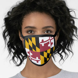 Maryland State Flag Face Mask