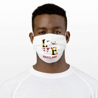 Maryland USA State Love Adult Cloth Face Mask