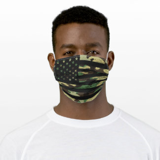 Masculine American Flag Grunge Camouflage Camo Adult Cloth Face Mask