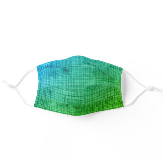 Masculine Grunge Green Geometric Hipster Pattern Adult Cloth Face Mask