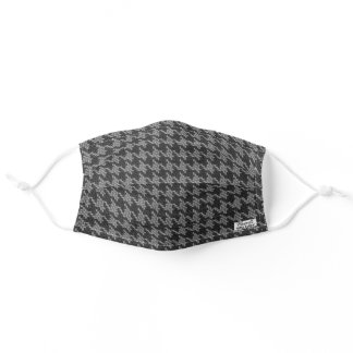 MASCULINE HOUNDSTOOTH PLAID FACE MASK FOR HIM