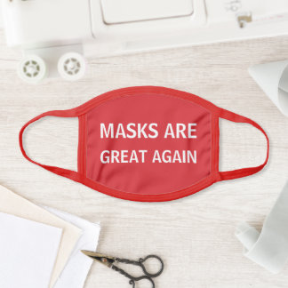 Mask are Great Again, White Text on Red