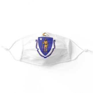 Massachusetts State Flag Adult Cloth Face Mask