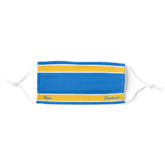 [Match Your Uniform] True Blue w/ Yellow Stripes Adult Cloth Face Mask