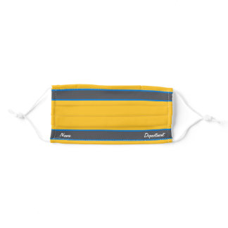 [Match Your Uniform] Yellow w/ Steel Gray Stripes Adult Cloth Face Mask