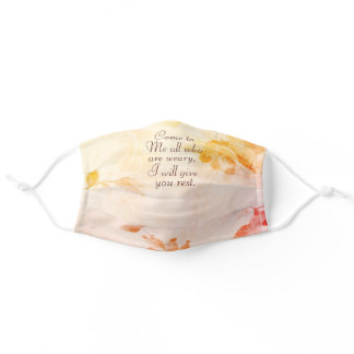 Matthew 11:28 Come to Me, I will give you rest Adult Cloth Face Mask
