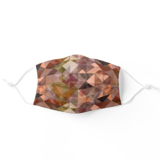 Mauve Taupe Green Black Gray Coral Polygon Pattern Adult Cloth Face Mask