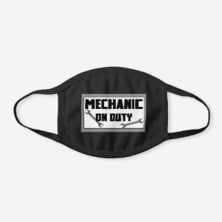 Mechanic on duty black cotton face mask