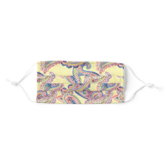 Mellow Yellow Paisley Adult Cloth Face Mask