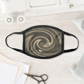 Melted Bronze Swirl Cool Abstract Psychedelic Chic Face Mask