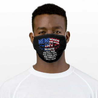 Memorial Day Murph Military Service Adult Cloth Face Mask