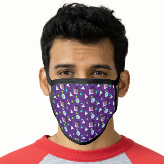 Memphis Style Geometric Colorful Pattern Face Mask