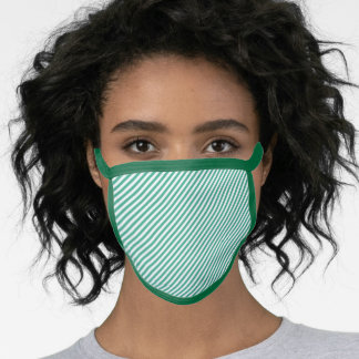Men's Women's Forest Green Stripe All Over Print Face Mask