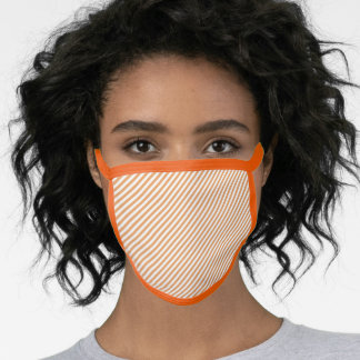 Men's Women's Neon Orange Stripe All Over Print Face Mask