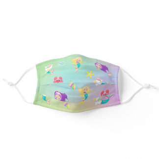 Mermaid Unicorn Cute For Kids Pattern Adult Cloth Face Mask