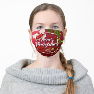 Merry Christmas Adult Cloth Face Mask