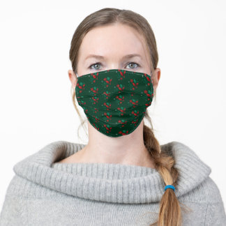 Merry Christmas and a Happy New Year Mistletoe Adult Cloth Face Mask