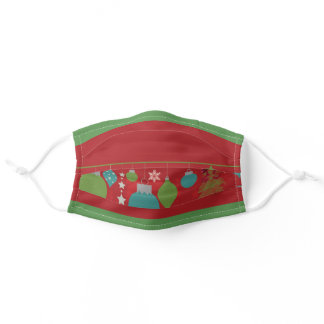 Merry Christmas Decorations Design Face Mask