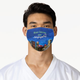 Merry Christmas from Singapore Adult Cloth Face Mask
