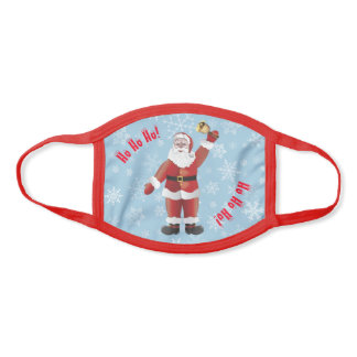 Merry Christmas Santa Claus with Golden Bell Face Mask
