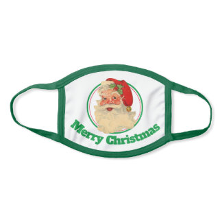Merry Christmas Santa Cotton & Poly Blend Facemask Face Mask
