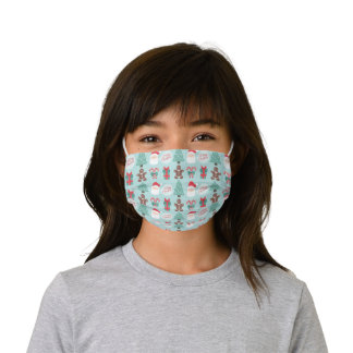Merry Christmas Santa Face Mask with Filter Slot