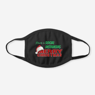 Merry Christmas Social Distance Cloth Face Mask