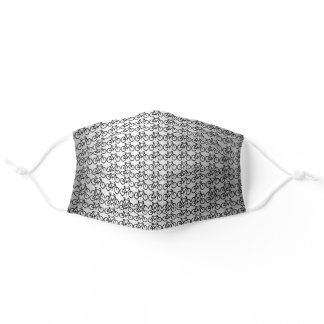 Metallic Gray Bicycle Sports Pattern Adult Cloth Face Mask