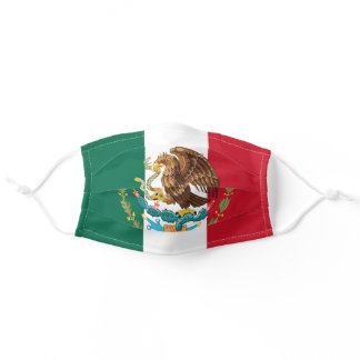 Mexican Flag with Enlarged Eagle Coat of Arms Adult Cloth Face Mask
