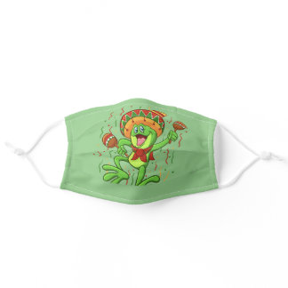 Mexican Frog | Choose Background Color Adult Cloth Face Mask