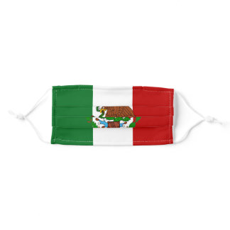Mexico flag mask, Bandera de Mexico Adult Cloth Face Mask