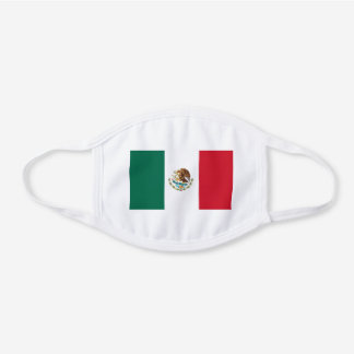 Mexico Mexican Flag Unisex For Him Dad Son Hubby White Cotton Face Mask