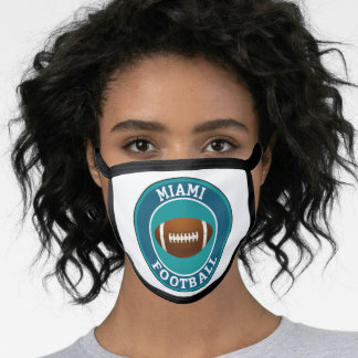 Miami American Football College University Face Mask