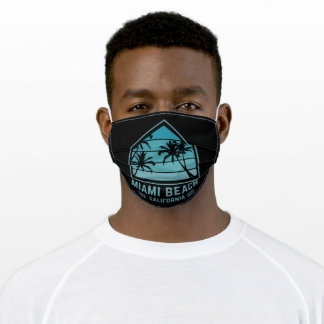 Miami beach color green adult cloth face mask