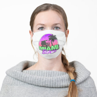 Miami Beach Florida Face Mask