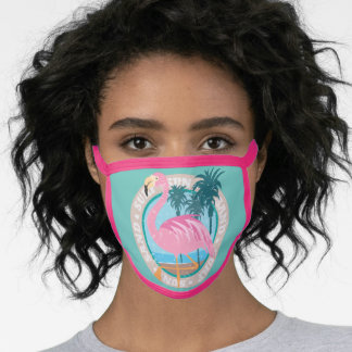 Miami Style Flamingo Face Mask