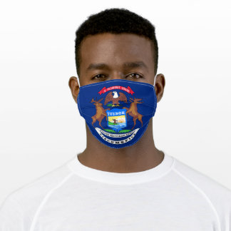 Michigan State Flag Adult Cloth Face Mask