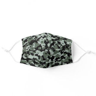Military Green Camo Camouflage Pattern Adult Cloth Face Mask