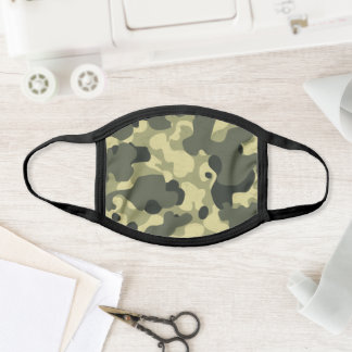 Military Green Camouflage Camo Pattern Face Mask